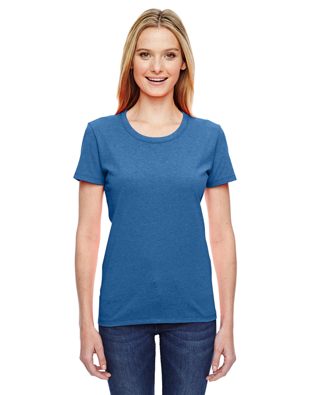 Fruit of the Loom Ladies' HD Cotton™ T-Shirt RETRO HTR ROYAL