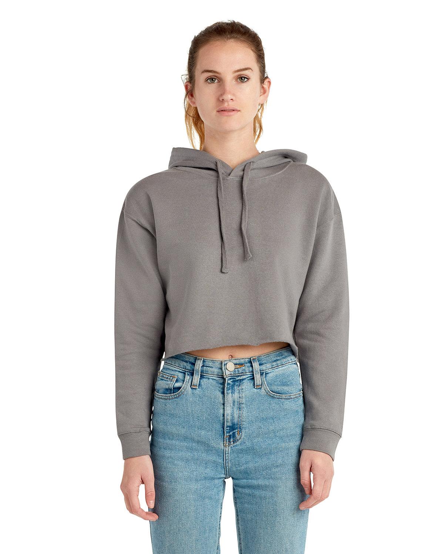 Lane Seven Ladies' Cropped Fleece Hoodie STORM