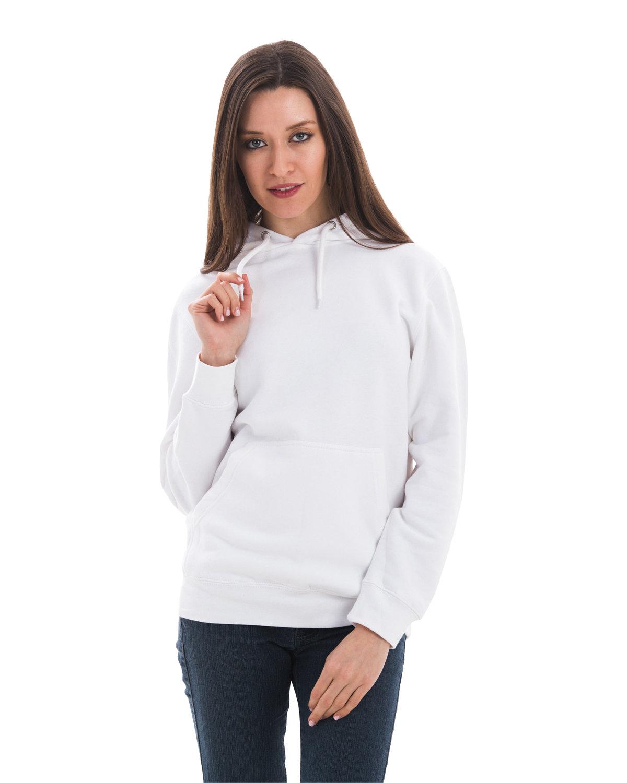 Lane Seven Unisex Premium Pullover Hooded Sweatshirt WHITE