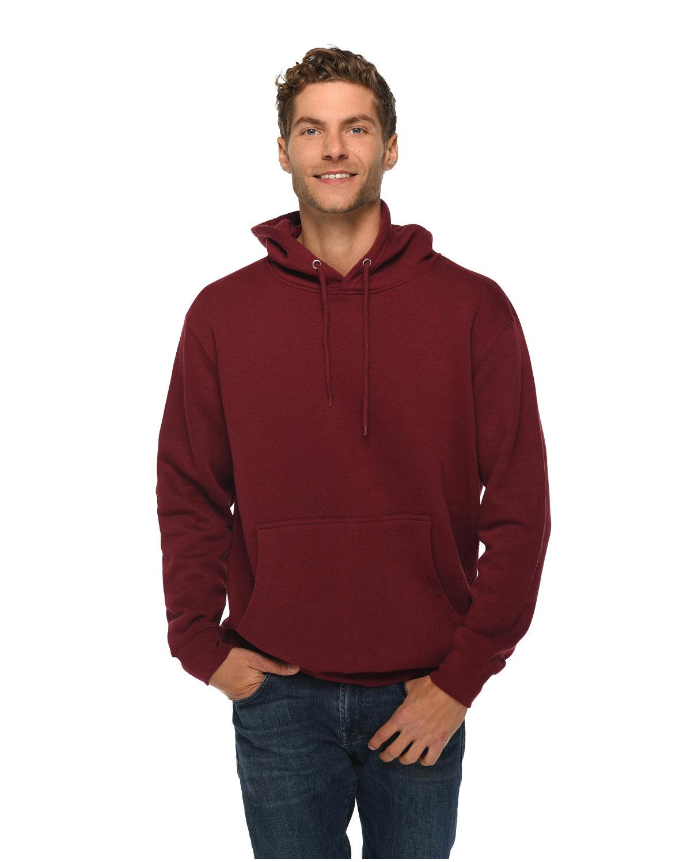 Lane Seven Unisex Premium Pullover Hooded Sweatshirt BURGUNDY
