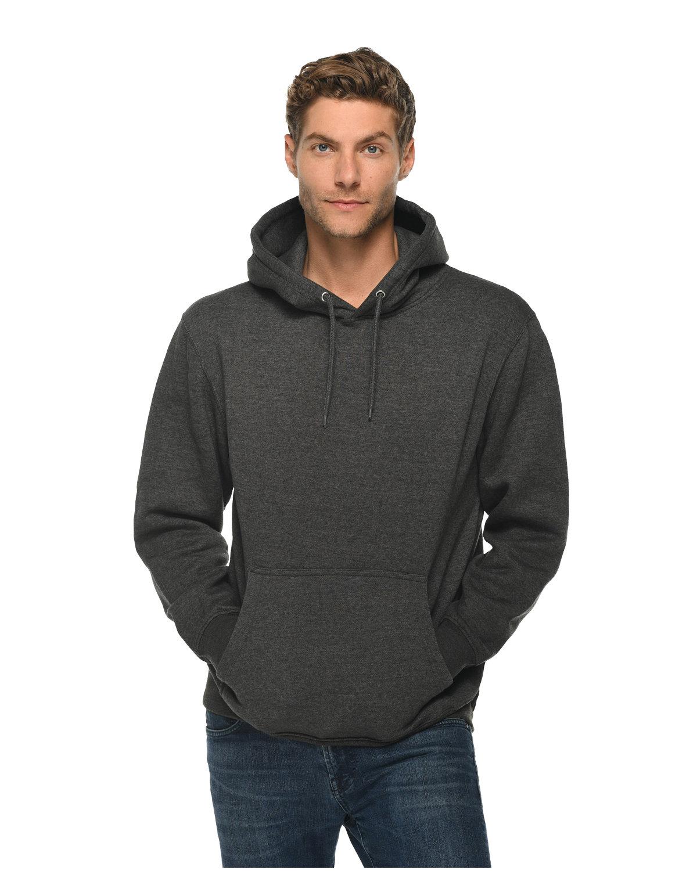 Lane Seven Unisex Premium Pullover Hooded Sweatshirt CHARCOAL HEATHER