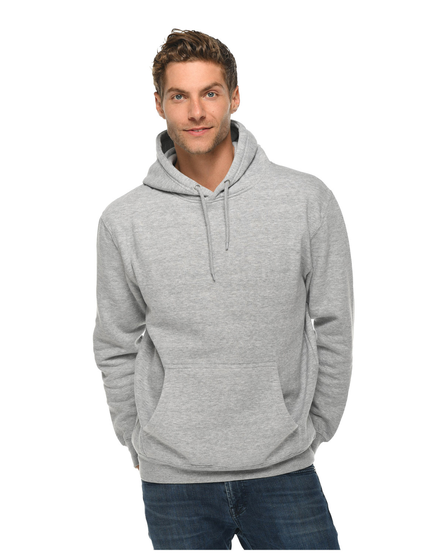 Lane Seven Unisex Premium Pullover Hooded Sweatshirt HEATHER GREY