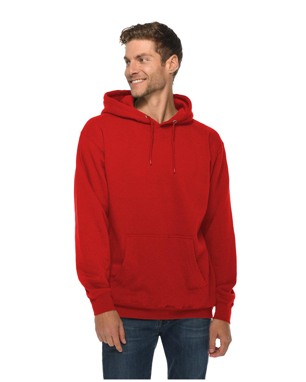 Lane Seven Unisex Premium Pullover Hooded Sweatshirt RED