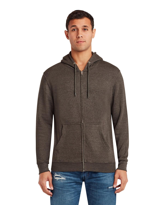 Lane Seven Unisex Premium Full-Zip Hooded Sweatshirt CHARCOAL HEATHER