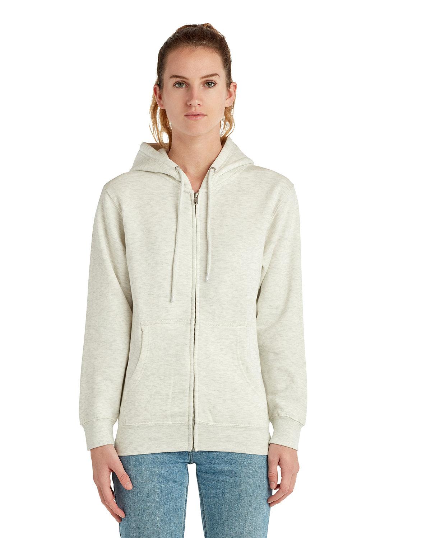 Lane Seven Unisex Premium Full-Zip Hooded Sweatshirt OATMEAL HEATHER