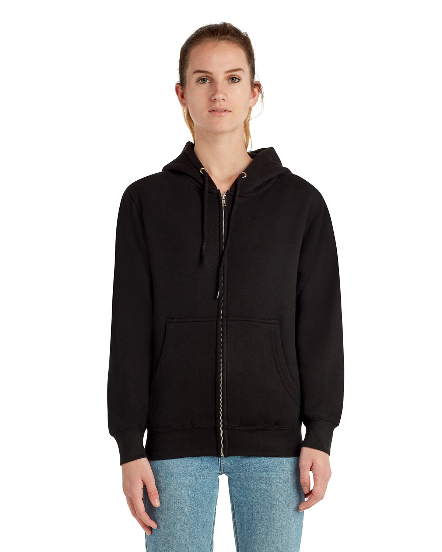 Lane Seven Unisex Premium Full-Zip Hooded Sweatshirt BLACK