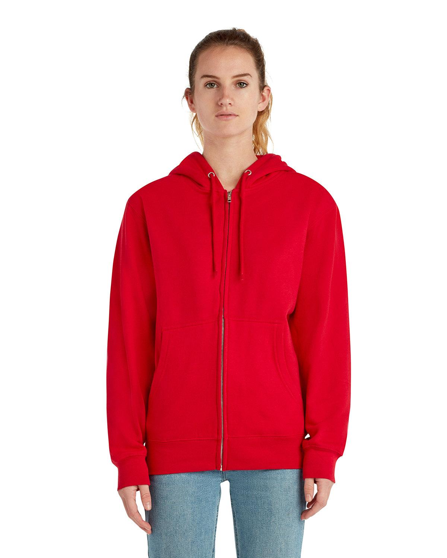 Lane Seven Unisex Premium Full-Zip Hooded Sweatshirt RED