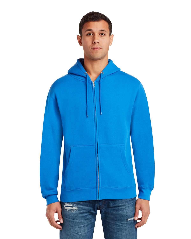 Lane Seven Unisex Premium Full-Zip Hooded Sweatshirt ROYAL