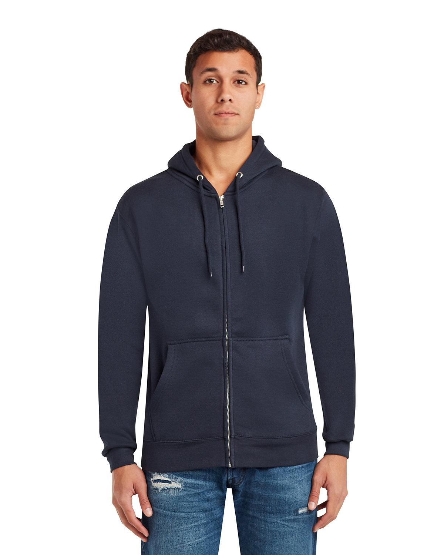 Lane Seven Unisex Premium Full-Zip Hooded Sweatshirt NAVY