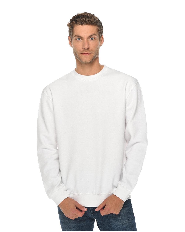 Lane Seven Unisex Premium Crewneck Sweatshirt WHITE