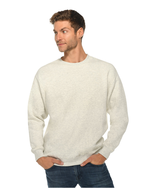 Lane Seven Unisex Premium Crewneck Sweatshirt OATMEAL HEATHER