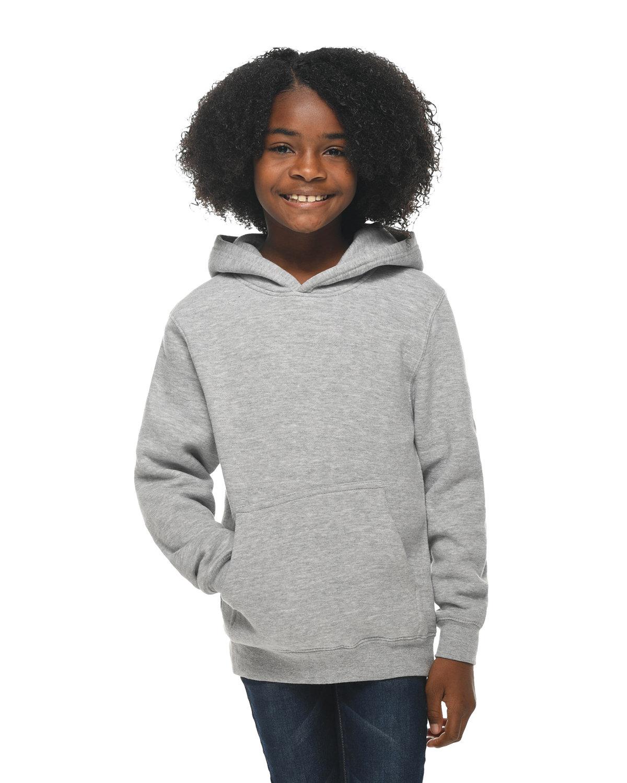 Lane Seven Youth Premium Pullover Hooded Sweatshirt HEATHER GREY