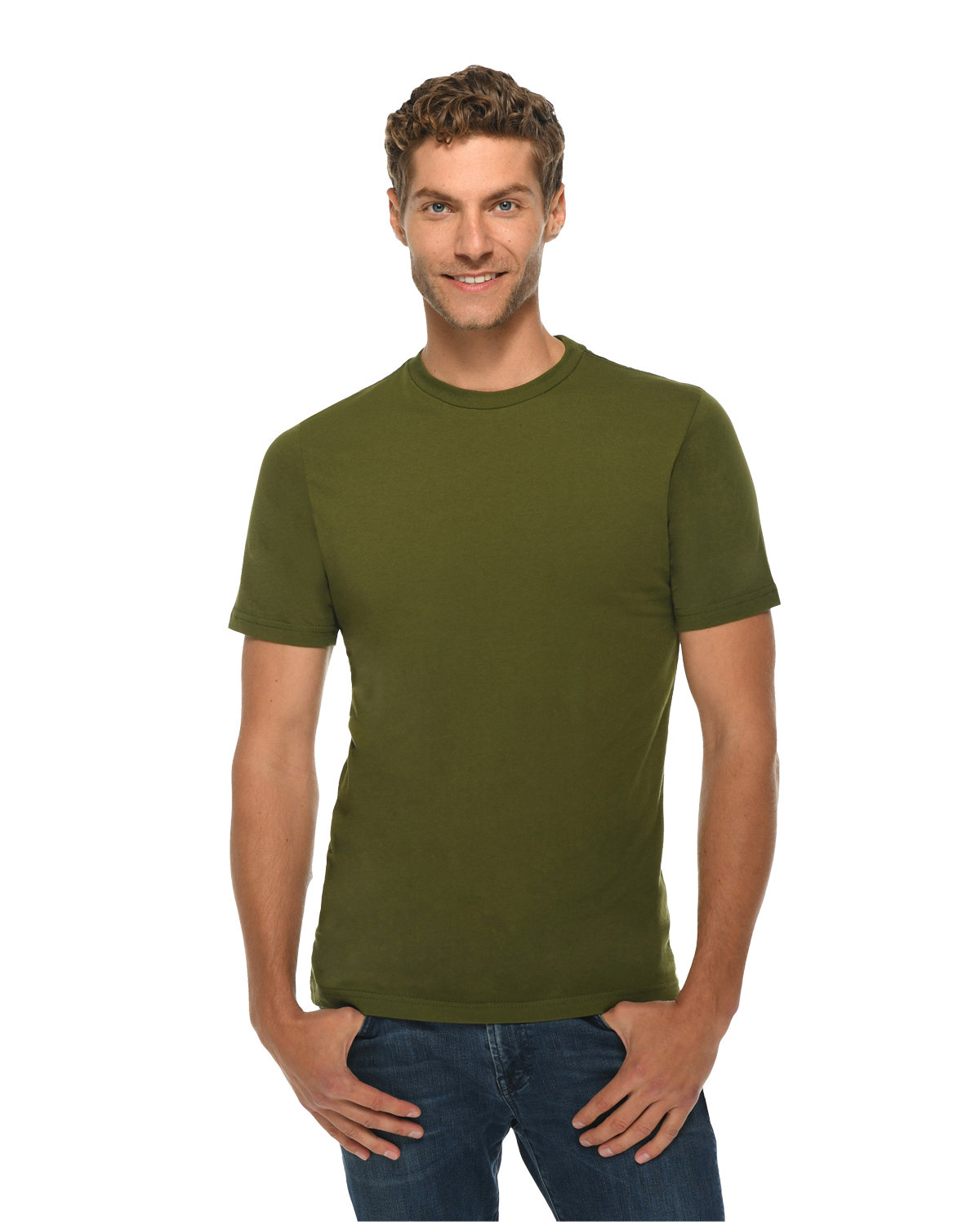 Lane Seven Unisex Deluxe T-shirt ARMY GREEN