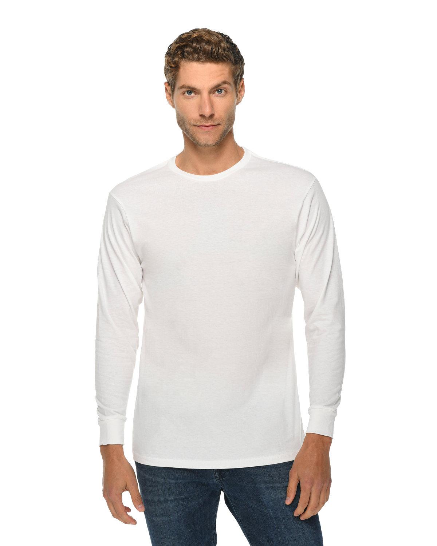 Lane Seven Unisex Long Sleeve T-Shirt WHITE