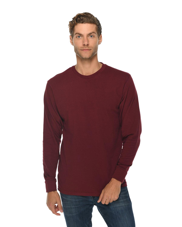 Lane Seven Unisex Long Sleeve T-Shirt BURGUNDY