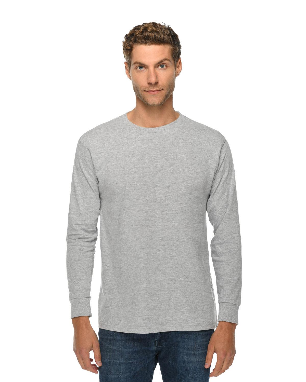 Lane Seven Unisex Long Sleeve T-Shirt HEATHER GREY