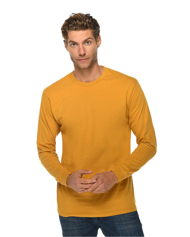 Lane Seven Unisex Long Sleeve T-Shirt MUSTARD
