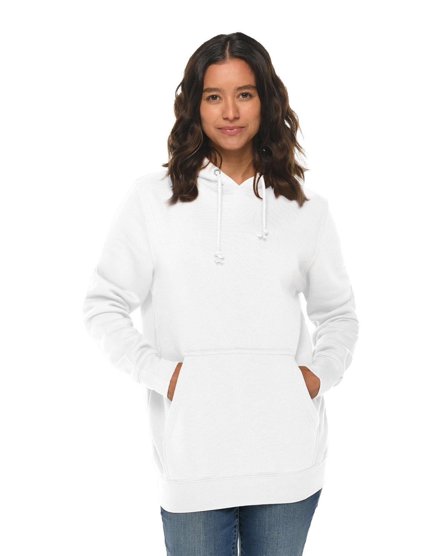 Lane Seven Unisex Heavyweight Pullover Hooded Sweatshirt WHITE