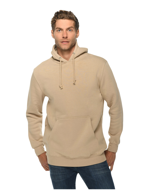 Lane Seven Unisex Heavyweight Pullover Hooded Sweatshirt MUSHROOM