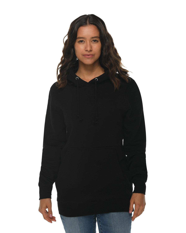 Lane Seven Unisex Heavyweight Pullover Hooded Sweatshirt BLACK