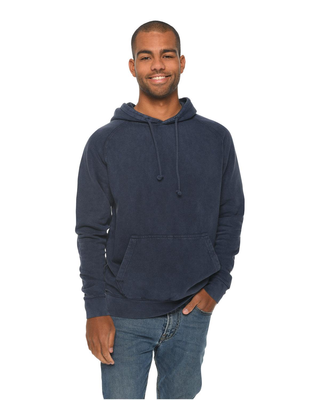 Lane Seven Unisex Vintage Raglan Hooded Sweatshirt DENIM