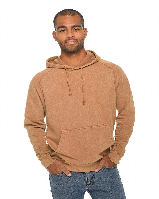 Lane Seven Unisex Vintage Raglan Hooded Sweatshirt CAMEL