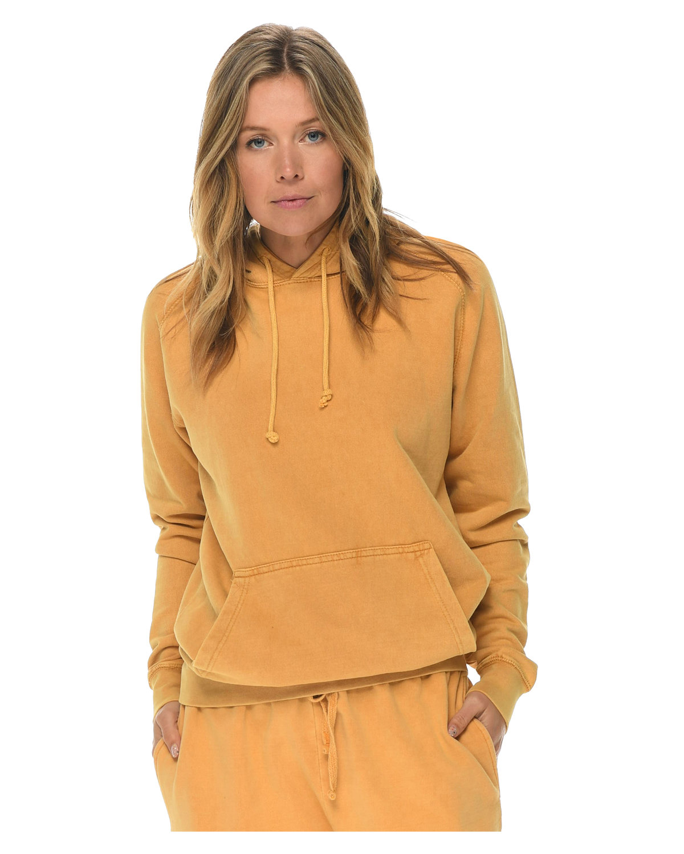 Lane Seven Unisex Vintage Raglan Hooded Sweatshirt MUSTARD