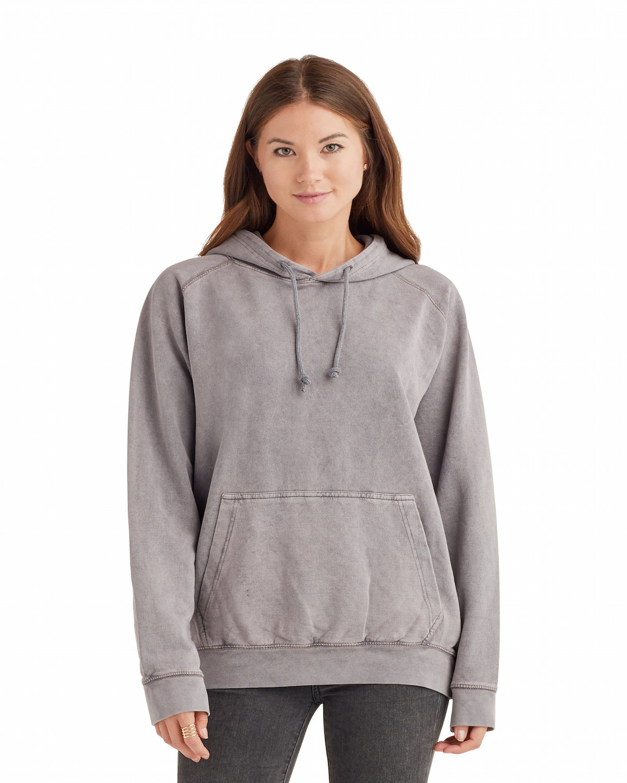 Lane Seven Unisex Vintage Raglan Hooded Sweatshirt ZINC