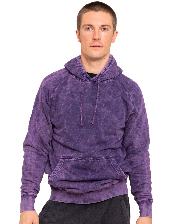 Lane Seven Unisex Vintage Raglan Hooded Sweatshirt CLOUD PURPLE