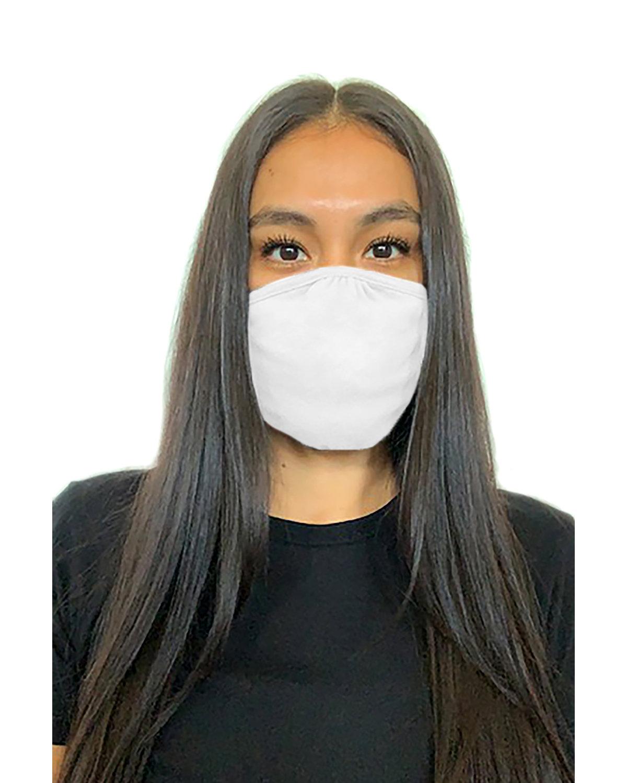 Next Level Adult Eco Face Mask WHITE