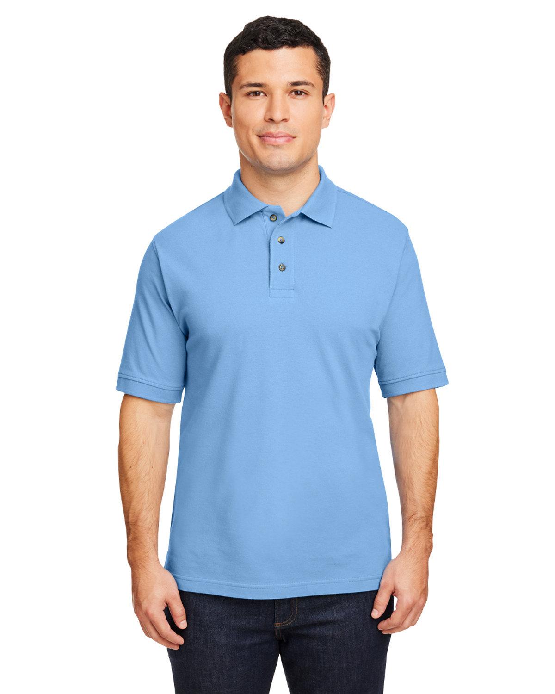 Harriton Men's 6 oz. Ringspun Cotton Piqué Short-Sleeve Polo LT COLLEGE BLUE