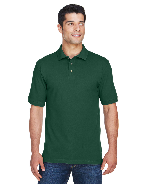 Harriton Men's 6 oz. Ringspun Cotton Piqué Short-Sleeve Polo HUNTER