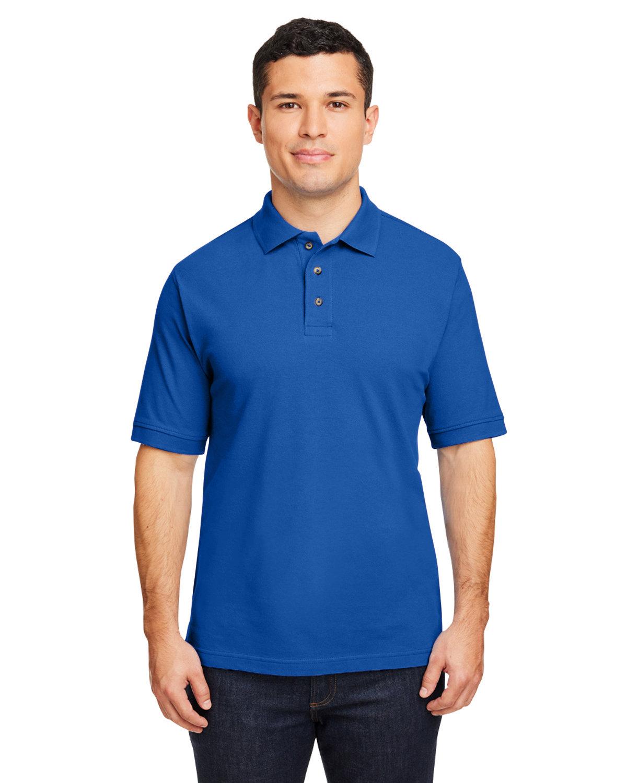 Harriton Men's 6 oz. Ringspun Cotton Piqué Short-Sleeve Polo TRUE ROYAL