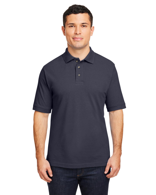 Harriton Men's 6 oz. Ringspun Cotton Piqué Short-Sleeve Polo NAVY