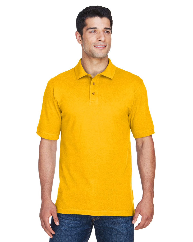 Harriton Men's 6 oz. Ringspun Cotton Piqué Short-Sleeve Polo SUNRAY YELLOW