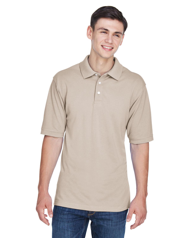 Harriton Men's 5.6 oz. Easy Blend™ Polo STONE