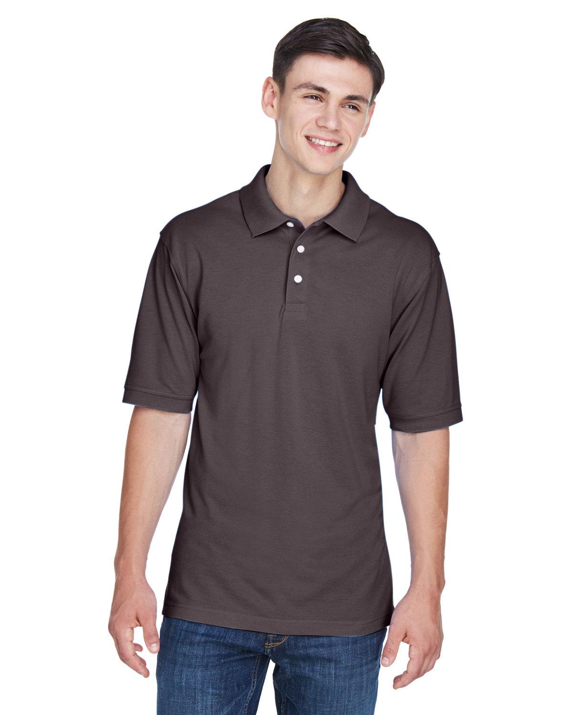 Harriton Men's 5.6 oz. Easy Blend™ Polo ESPRESSO