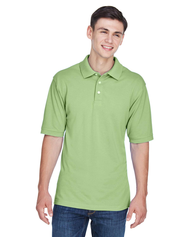 Harriton Men's 5.6 oz. Easy Blend™ Polo LIME