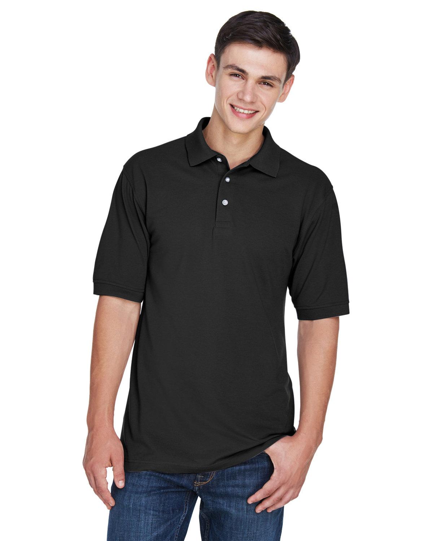 Harriton Men's 5.6 oz. Easy Blend™ Polo BLACK
