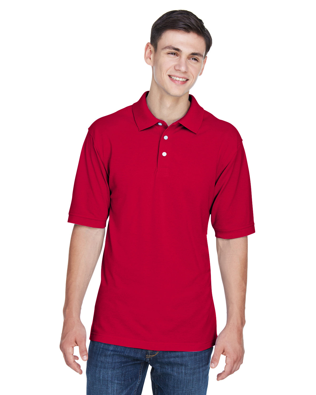 Harriton Men's 5.6 oz. Easy Blend™ Polo RED