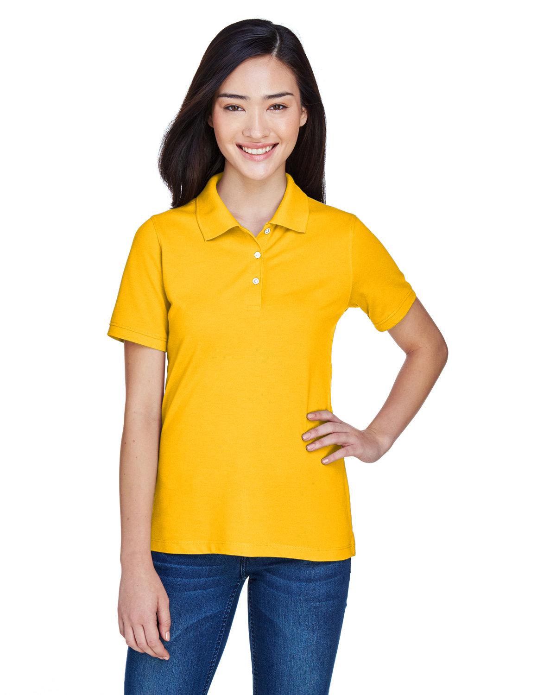 Harriton Ladies' 5.6 oz. Easy Blend™ Polo SUNRAY YELLOW