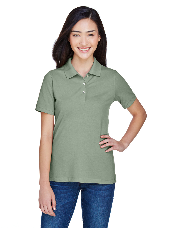 Harriton Ladies' 5.6 oz. Easy Blend™ Polo DILL