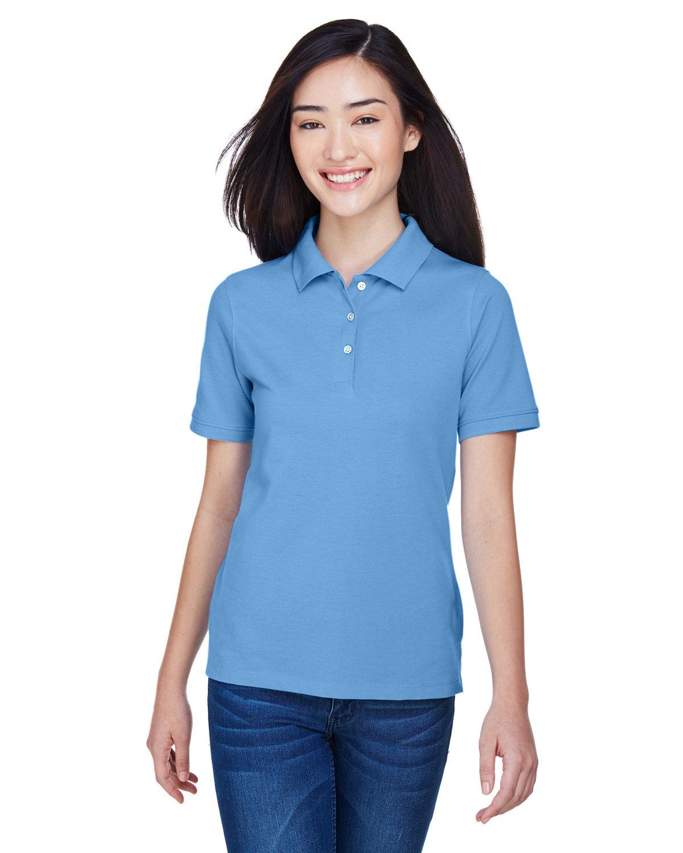 Harriton Ladies' 5.6 oz. Easy Blend™ Polo LT COLLEGE BLUE