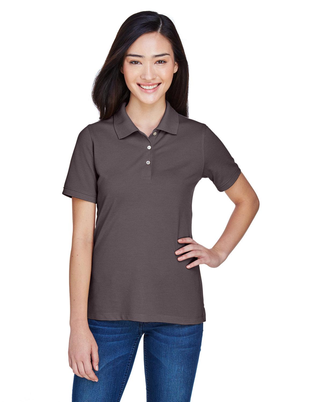 Harriton Ladies' 5.6 oz. Easy Blend™ Polo ESPRESSO