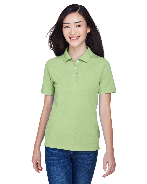 Harriton Ladies' 5.6 oz. Easy Blend™ Polo LIME