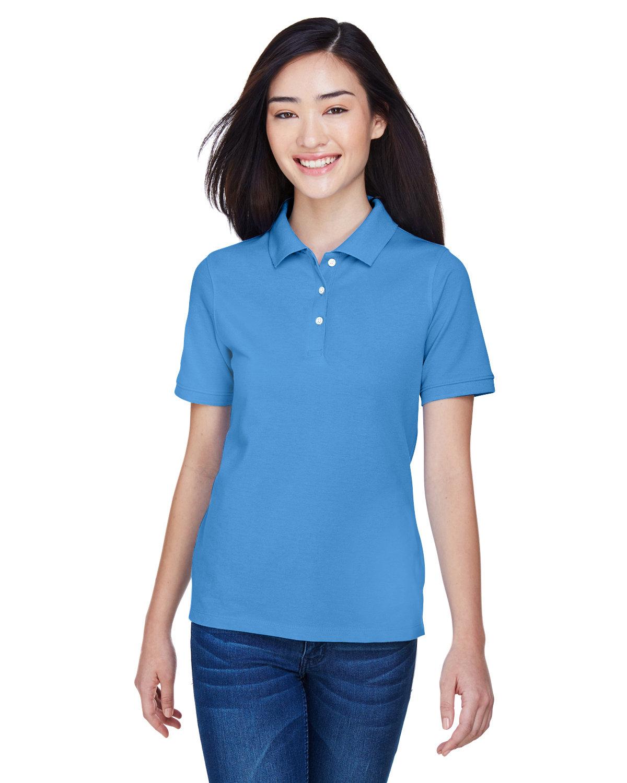 Harriton Ladies' 5.6 oz. Easy Blend™ Polo NAUTICAL BLUE