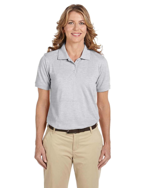 Harriton Ladies' 5.6 oz. Easy Blend™ Polo GREY HEATHER