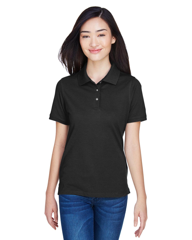 Harriton Ladies' 5.6 oz. Easy Blend™ Polo BLACK