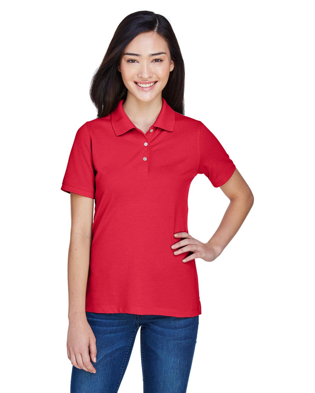 Harriton Ladies' 5.6 oz. Easy Blend™ Polo RED
