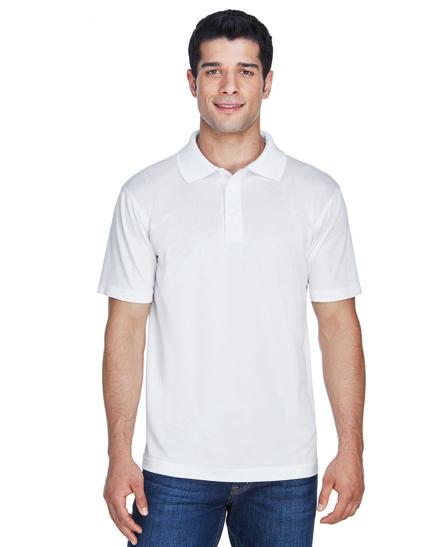 Harriton Men's 4 oz. Polytech Polo WHITE